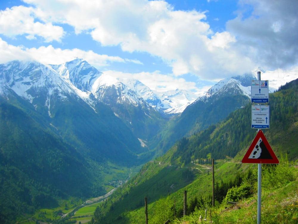Uitzicht over de Alpen