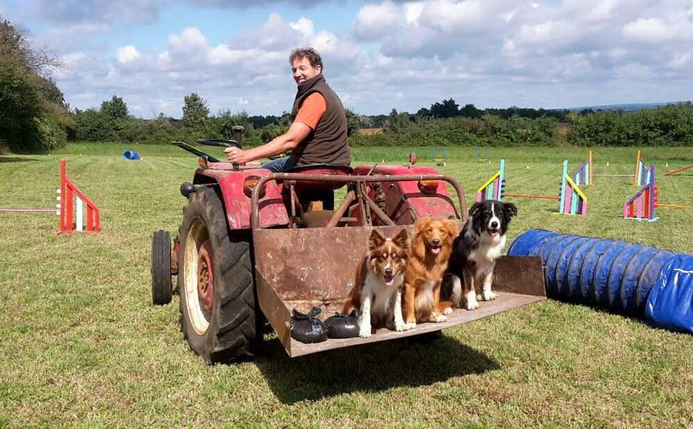 Mario en de honden op het trainingsveld