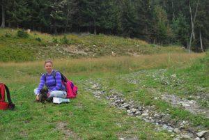 Wandelen met de hond in Montchavin