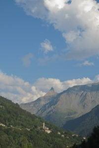 Uitzicht vanaf de camping in Montchavin