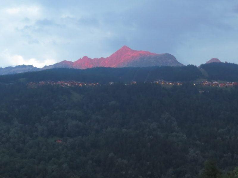 Zon op de bergen in Frankrijk
