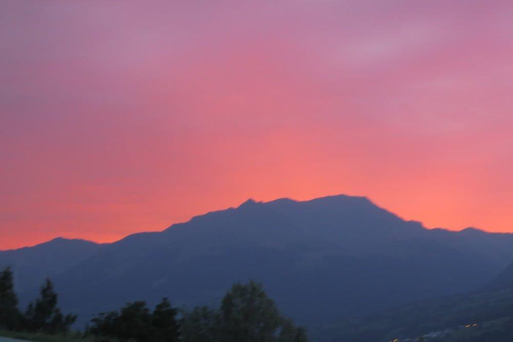 Zonsondergang in Frankrijk