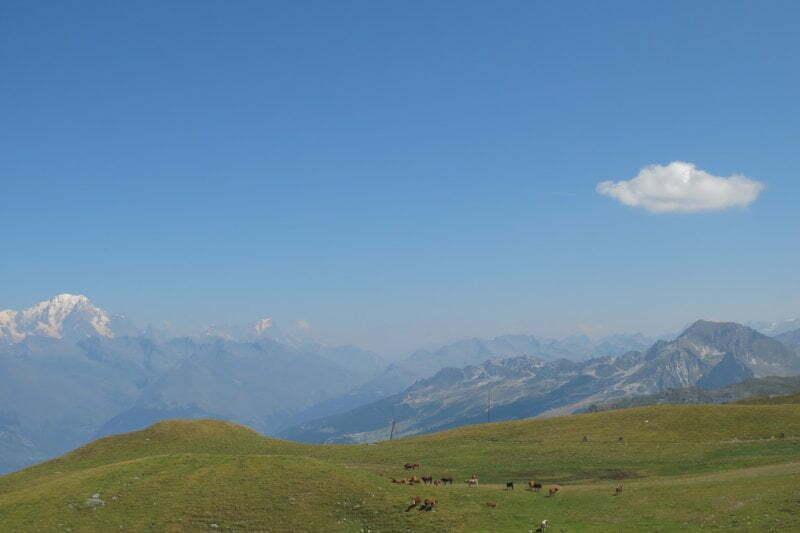 Uitzicht in de Alpen