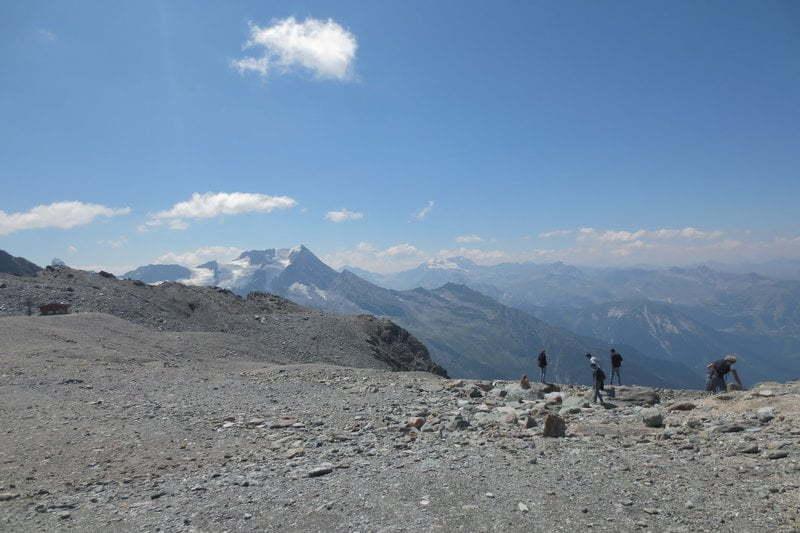 Op de glacier de la Chiaupe