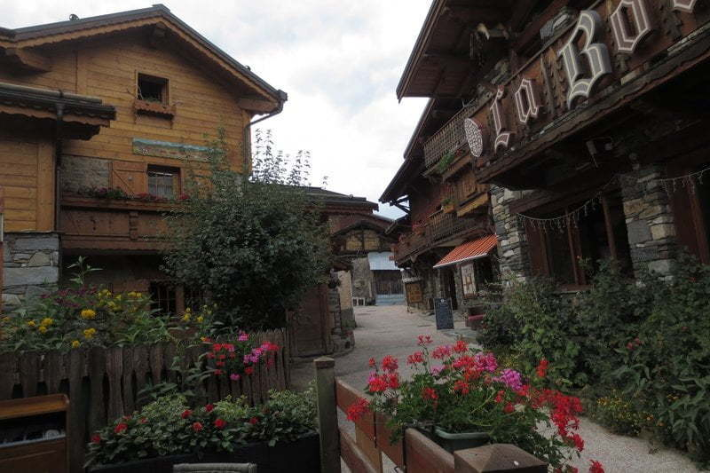 Montchavin in de Franse Alpen