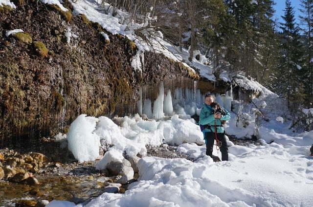 Bevroren rotswand Maria Alm