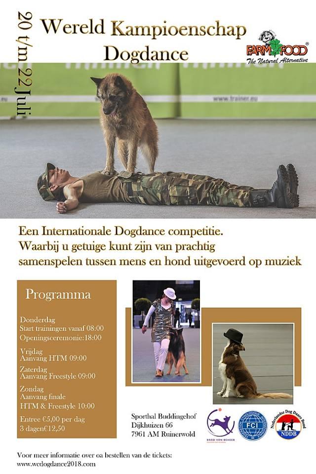 FCI Worldchampionship Dog Dance zomer 2018