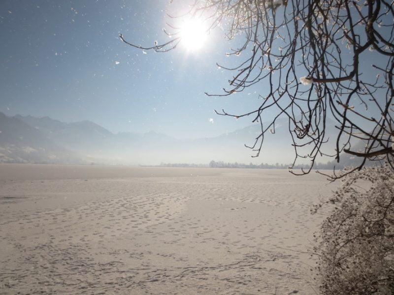 Bevroren meer van Zell am See