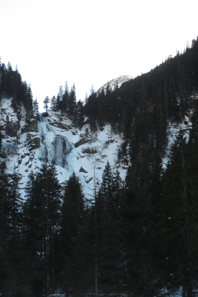 Krimmler waterval in de winter