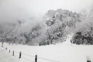 Winterlandschap in Oostenrijk