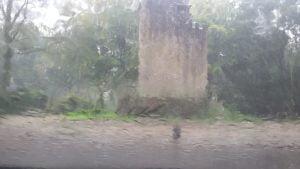 De Uilentoren in Leersum in de regen