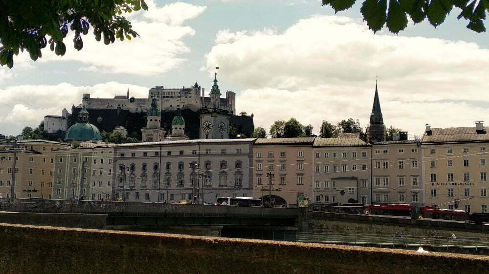 Zicht op Salzburg