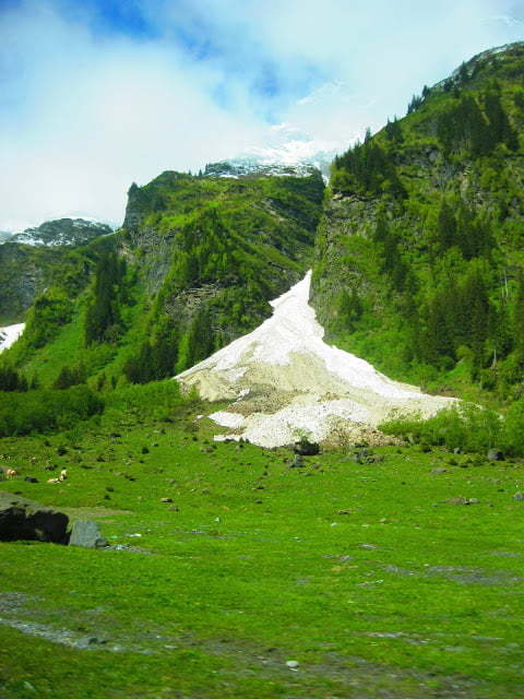 Sneeuw in Oostenrijk in de zomer