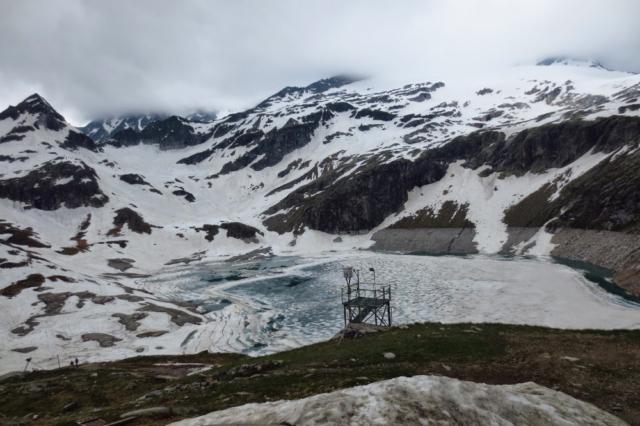 Sneeuw in de zomer in Oostenrijk