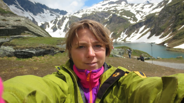 Selfie in de Oostenrijkse Alpen