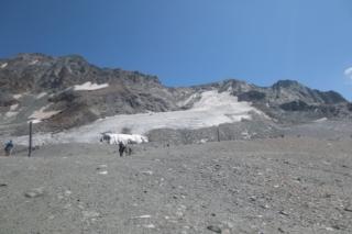 Glacier de la Chiaupe op 3300 meter hoogte