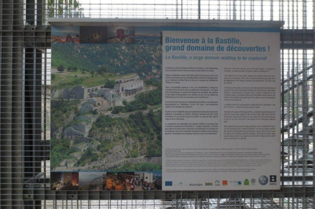 Plattegrond van de Bastille in Grenoble