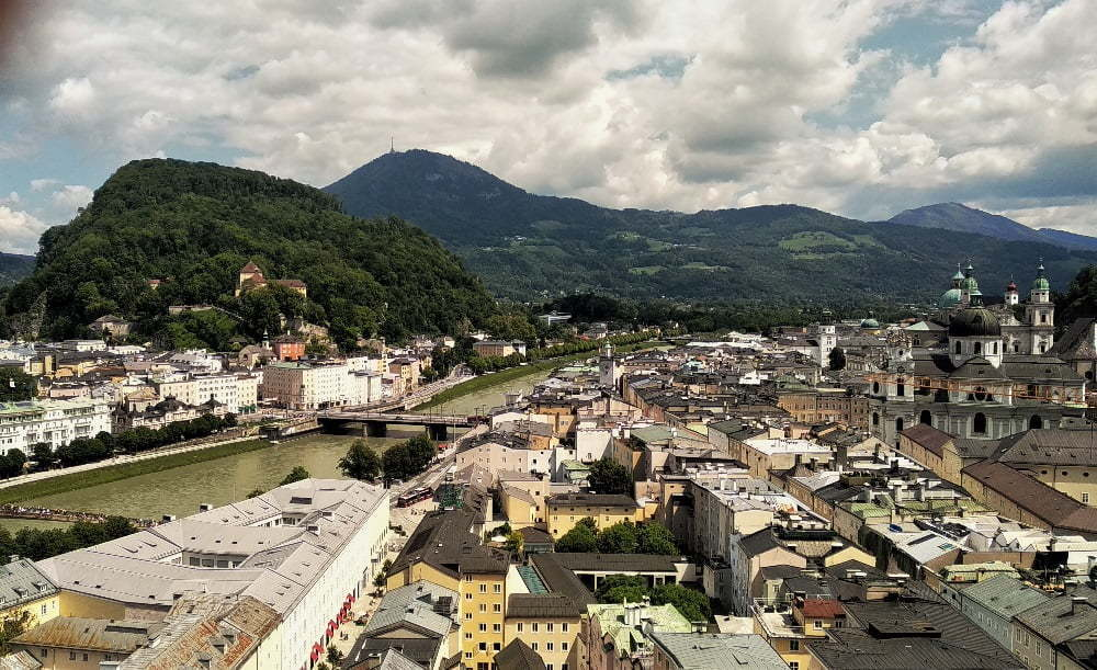 Salzburg van bovenaf