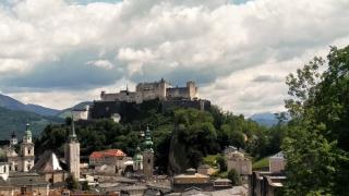 Zicht op Festung Hohensalzburg
